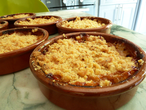crumble abricots Lavachequireve